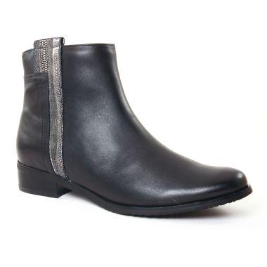 Bottines Et Boots Fugitive Rialto Nappa Noir, vue principale de la chaussure femme