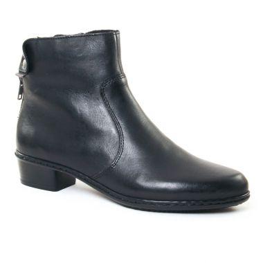 Bottines Et Boots Rieker Y773 Noir, vue principale de la chaussure femme