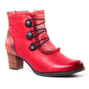 Bottines Et Boots Laura Vita Amelia Rouge, vue principale de la chaussure femme