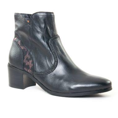 Bottines Et Boots Fugitive Laino Nappa Noir, vue principale de la chaussure femme