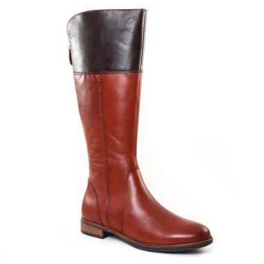 Bottes Tamaris 25530 Cognac Moka, vue principale de la chaussure femme