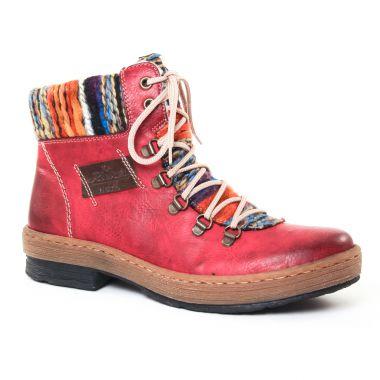 Bottines Et Boots Rieker Z6743 Rouge, vue principale de la chaussure femme