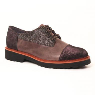 Chaussures À Lacets Mamzelle Rodeo Compo Wave Etain, vue principale de la chaussure femme