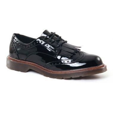Chaussures À Lacets Coolway Praga Black, vue principale de la chaussure femme