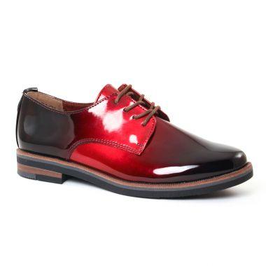 Chaussures À Lacets Marco Tozzi 23200 Merlot, vue principale de la chaussure femme
