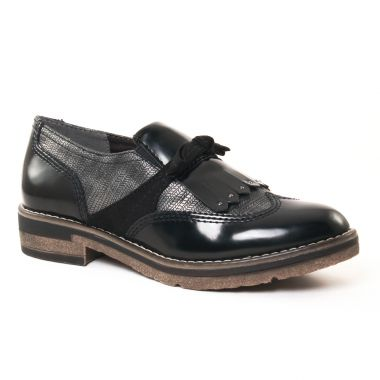 Mocassins Tamaris 24313 Black Comb, vue principale de la chaussure femme