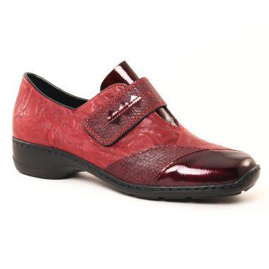 Mocassins Rieker 58397 Bordeaux, vue principale de la chaussure femme