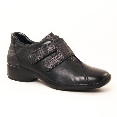 Mocassins Rieker L3856 Noir, vue principale de la chaussure femme
