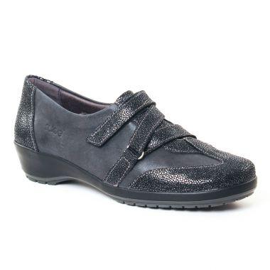 Mocassins Suave 7107 Black, vue principale de la chaussure femme