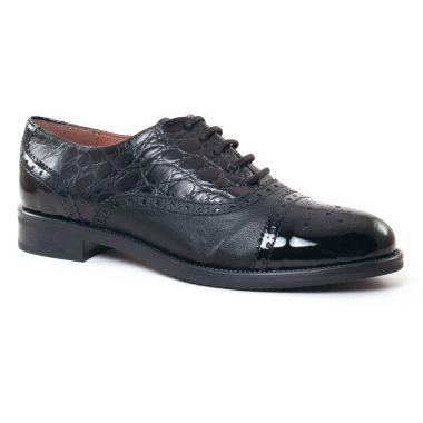 Chaussures À Lacets Maria Jaen 5580 N Croco Noir, vue principale de la chaussure femme