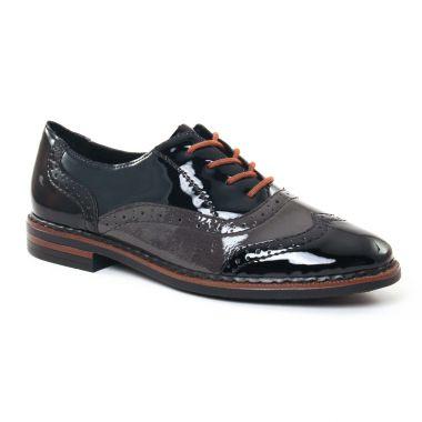 Chaussures À Lacets Rieker 50603 Noir, vue principale de la chaussure femme