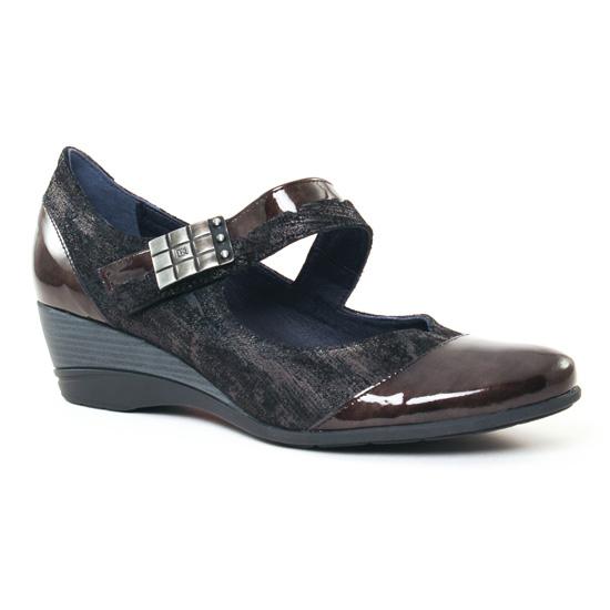 Babies Dorking Aura 7307 Noir Gris, vue principale de la chaussure femme