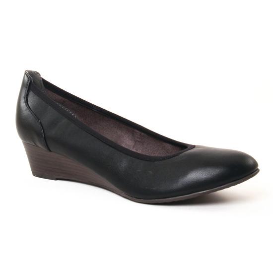 Ballerines Tamaris 22304 Black Matt, vue principale de la chaussure femme