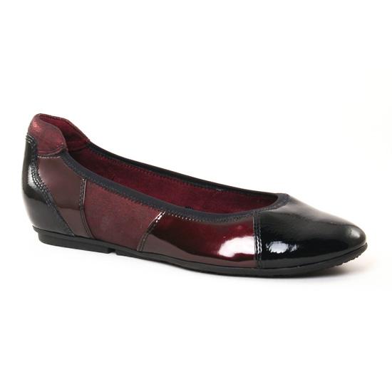 Ballerines Tamaris 22102 Merlot, vue principale de la chaussure femme