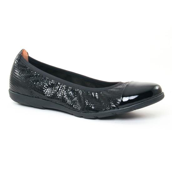 Ballerines Caprice 22102 Black Reptile, vue principale de la chaussure femme