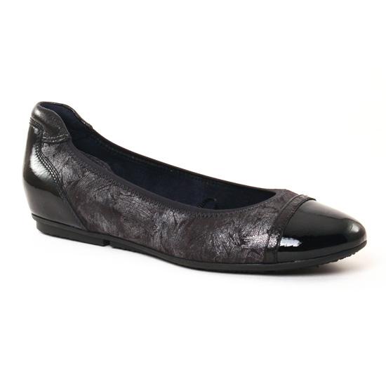 Ballerines Tamaris 22101 Black Comb, vue principale de la chaussure femme
