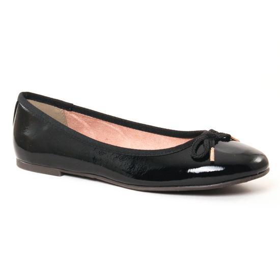 Ballerines Tamaris 22123 Black Patent, vue principale de la chaussure femme