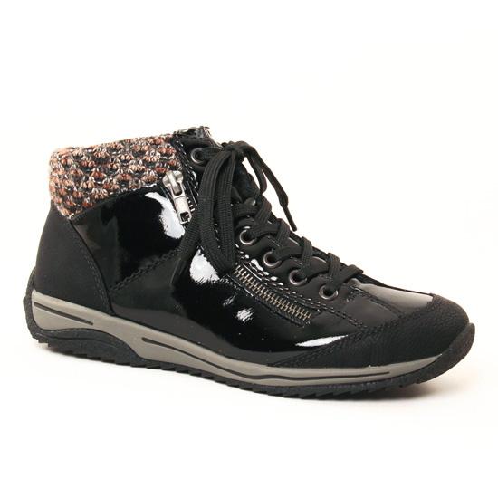 Tennis Et Baskets Mode Rieker L5223 Noir, vue principale de la chaussure femme