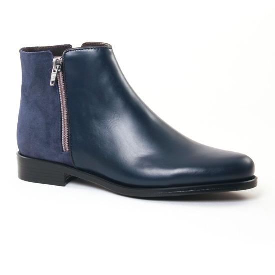 Bottines Et Boots Pintodiblu 80410B Bleu, vue principale de la chaussure femme