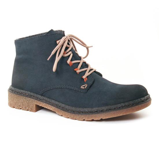 Bottines Et Boots Rieker 53244 Gris Bleu, vue principale de la chaussure femme