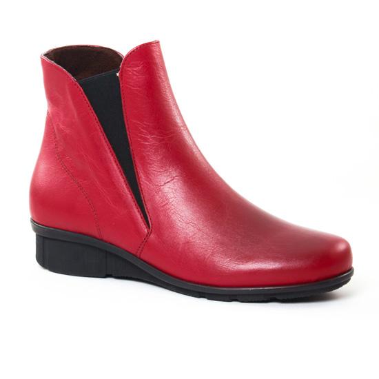 Bottines Et Boots On Zen 17165 Rouge, vue principale de la chaussure femme