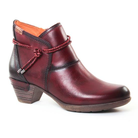 Bottines Et Boots Pikolinos 9028775 Garnet, vue principale de la chaussure femme