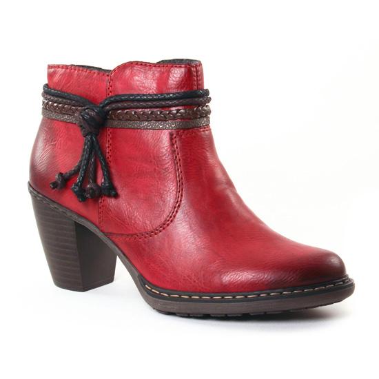 Bottines Et Boots Rieker 55298 Bordeaux, vue principale de la chaussure femme