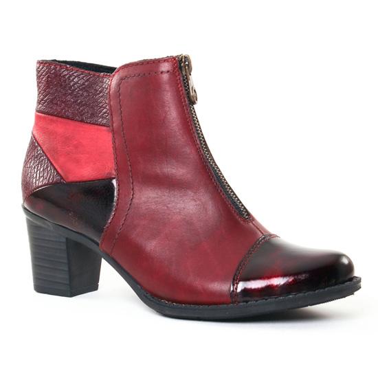Bottines Et Boots Rieker Z7688 Bordeaux, vue principale de la chaussure femme