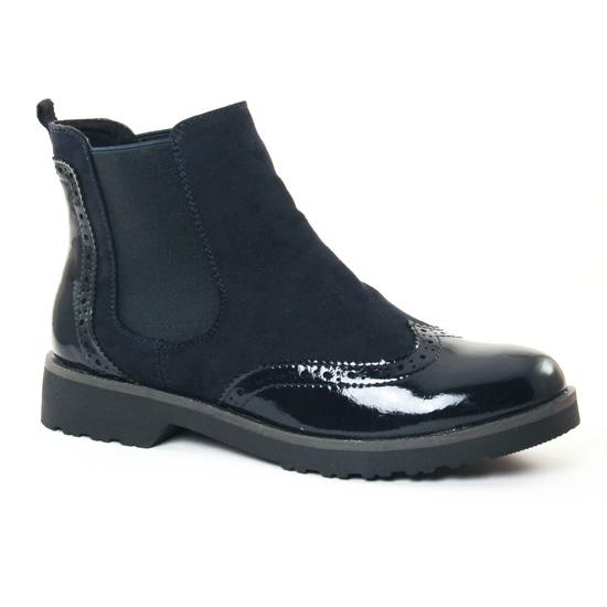 Bottines Et Boots Marco Tozzi 25496 Navy, vue principale de la chaussure femme