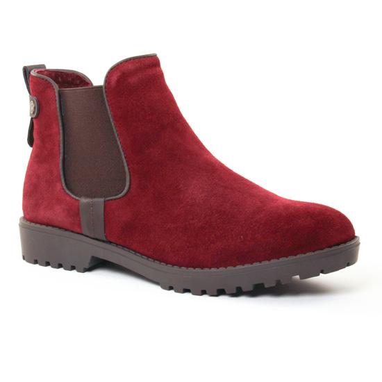 Bottines Et Boots Carmela 65695 Burgundy, vue principale de la chaussure femme