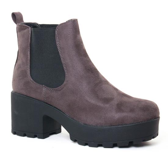Bottines Et Boots Coolway Irby Grey, vue principale de la chaussure femme