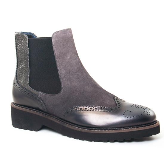 Bottines Et Boots Pintodiblu 78730 Gris, vue principale de la chaussure femme