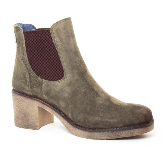 Bottines Et Boots Pintodiblu 73132 Kaki, vue principale de la chaussure femme
