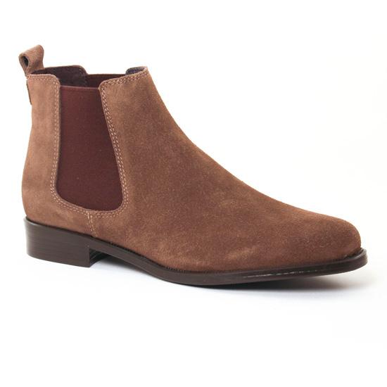Bottines Et Boots Pintodiblu 80370B Taupe, vue principale de la chaussure femme