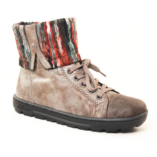 Bottines Et Boots Rieker Z8753 Gris, vue principale de la chaussure femme