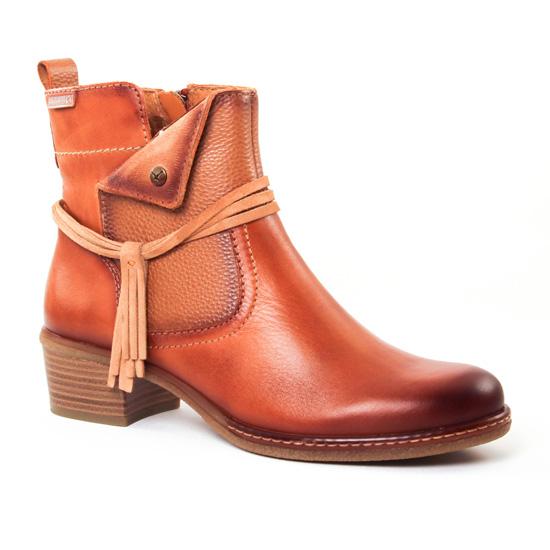 Bottines Et Boots Pikolinos W9H8800 Cognac, vue principale de la chaussure femme