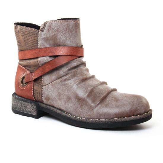 Bottines Et Boots Rieker 746 K Cigare, vue principale de la chaussure femme
