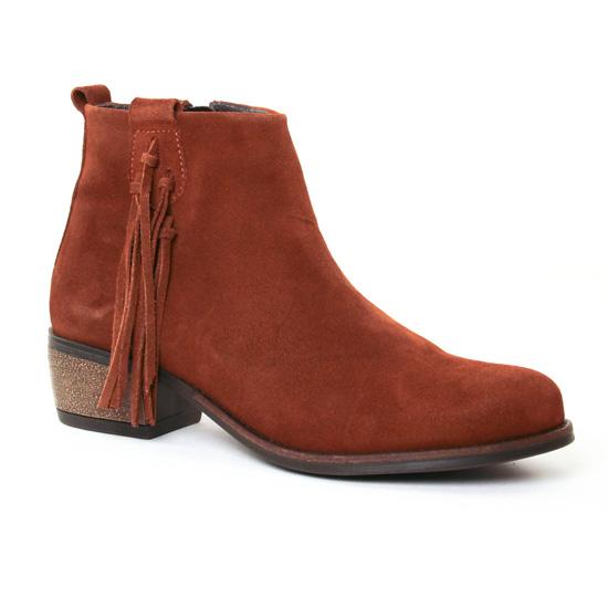 Bottines Et Boots Lassitude 5981 Cognac, vue principale de la chaussure femme