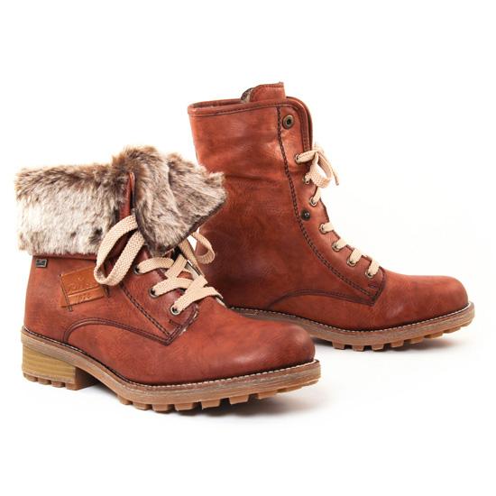 Bottines Et Boots Rieker Z420 Marron, vue principale de la chaussure femme