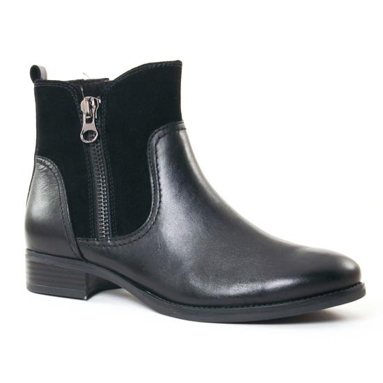 Bottines Et Boots Caprice 25319 Black, vue principale de la chaussure femme