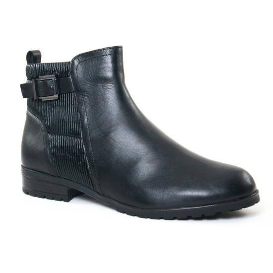 Bottines Et Boots Caprice 25350 Black Nappa, vue principale de la chaussure femme