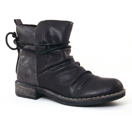 Bottines Et Boots Rieker 74688 Noir Gris, vue principale de la chaussure femme