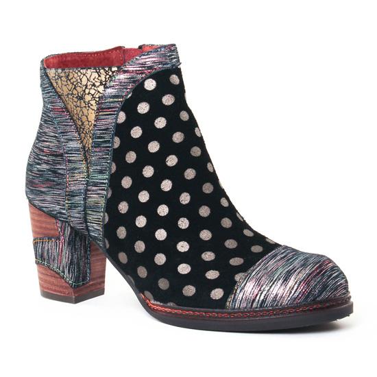 Bottines Et Boots Laura Vita Anna Noir, vue principale de la chaussure femme