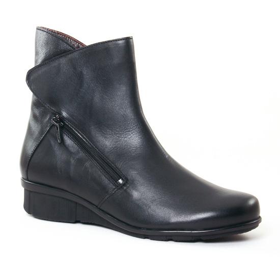 Bottines Et Boots On Zen 17121 Noir, vue principale de la chaussure femme