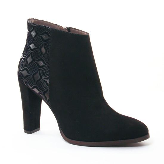 Bottines Et Boots Perlato 9507 Velour Nido Noir, vue principale de la chaussure femme