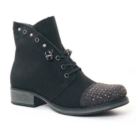Bottines Et Boots Rieker Y9732 Noir, vue principale de la chaussure femme