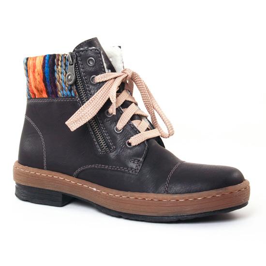 Bottines Et Boots Rieker Z6721 Noir Orange, vue principale de la chaussure femme