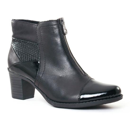 Bottines Et Boots Rieker Z7688 Noir, vue principale de la chaussure femme