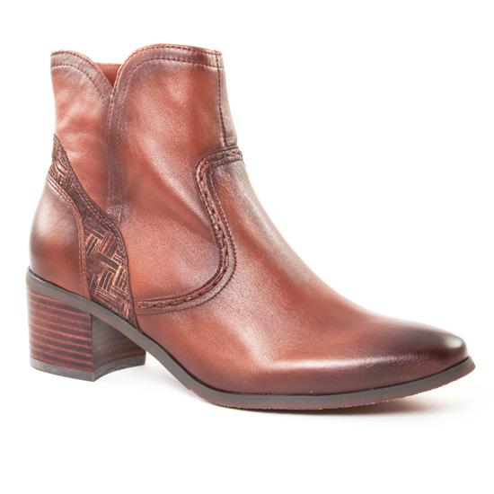 Bottines Et Boots Fugitive Laino Nappa Gold, vue principale de la chaussure femme