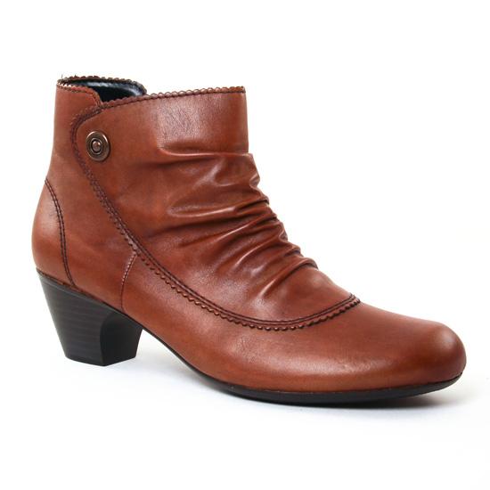 Bottines Et Boots Rieker 70561 Marron, vue principale de la chaussure femme